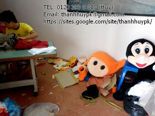 sản xuất mascot, quần áo nhân vật hoạt hình, bán trang phục động vật