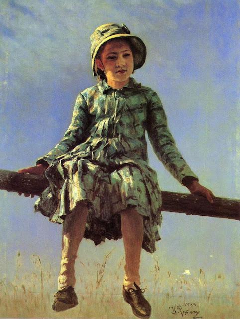 Ilia Repin - Dragonfly. Portrait of Vera Repina, the artist's daughter