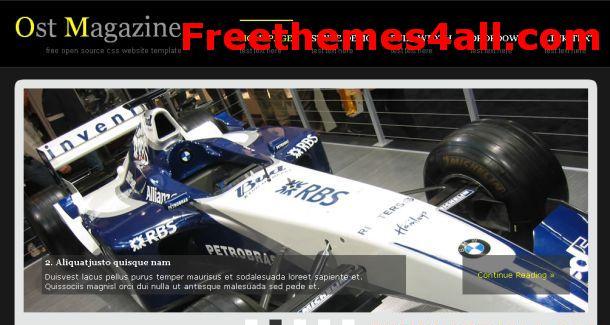 Free CSS Magazine Jquery Website Template