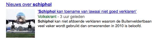 Extra nieuws over Schiphol