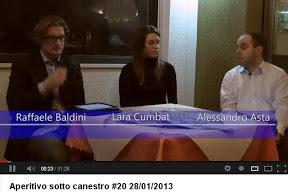 Trieste: Lara Cumbat ad Aperitivo sotto Canestro