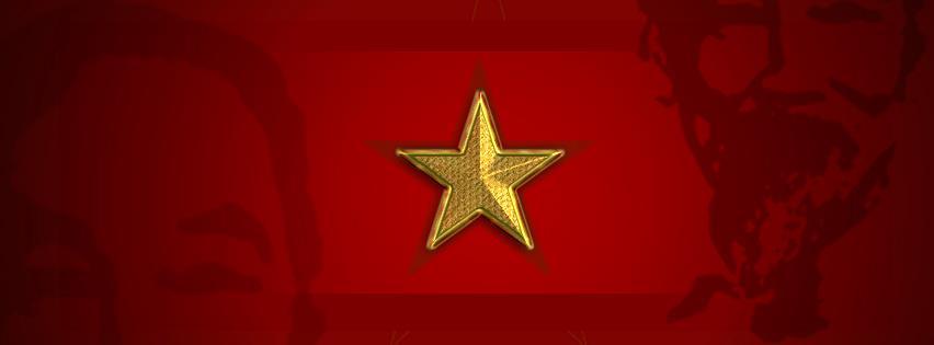 Ảnh bìa bác Hồ với lá cờ đỏ sao vàng