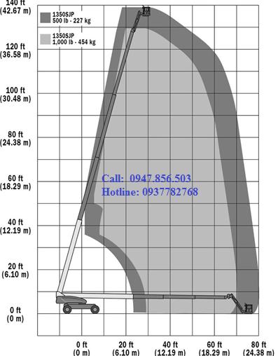 Xe nâng người tự hành cao 56.56m