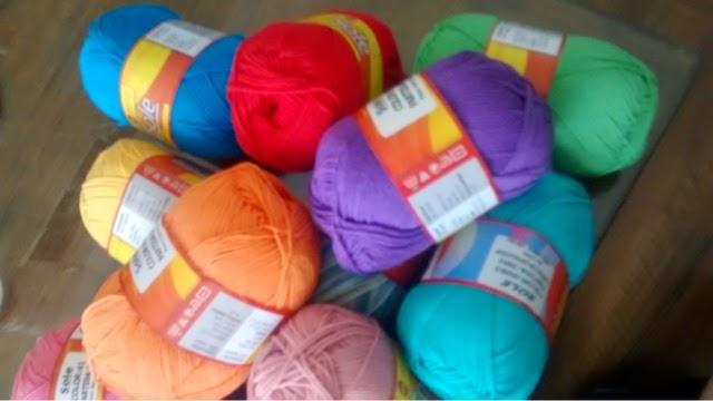hilos de colores para amigurumis