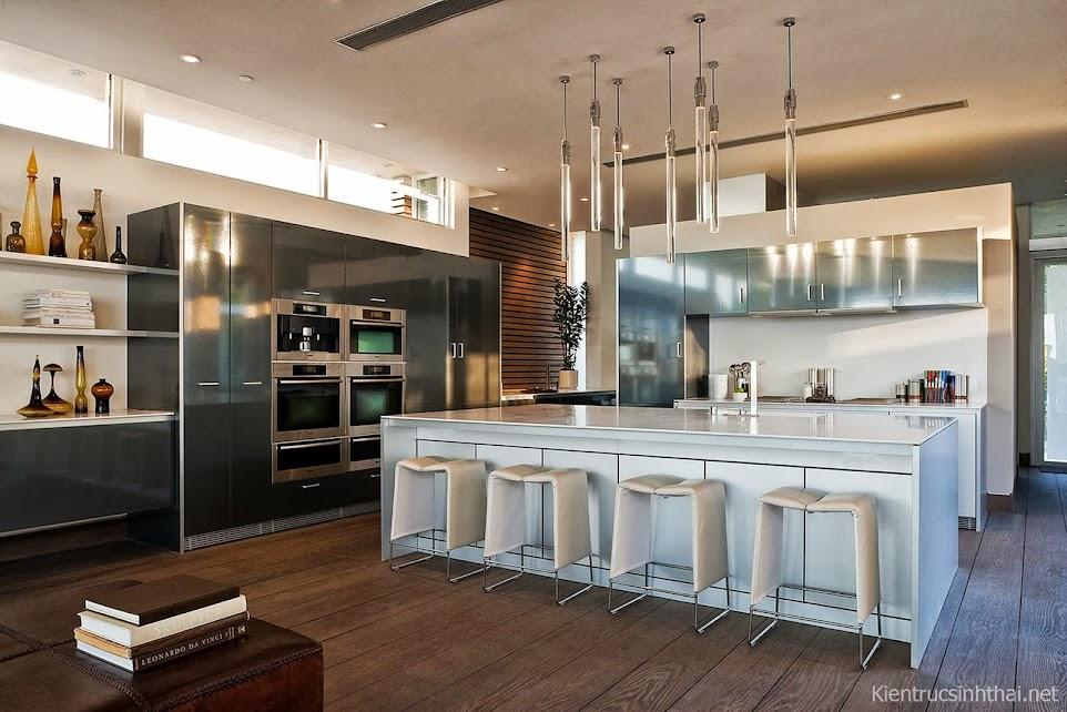 Mẫu thiết kế phòng bếp sang trọng, hiện đại