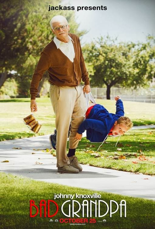 Poster Of English Movie Jackass Presents: Bad Grandpa (2013) Free Download Full New Hollywood Movie Watch Online At Alldownloads4u.Com