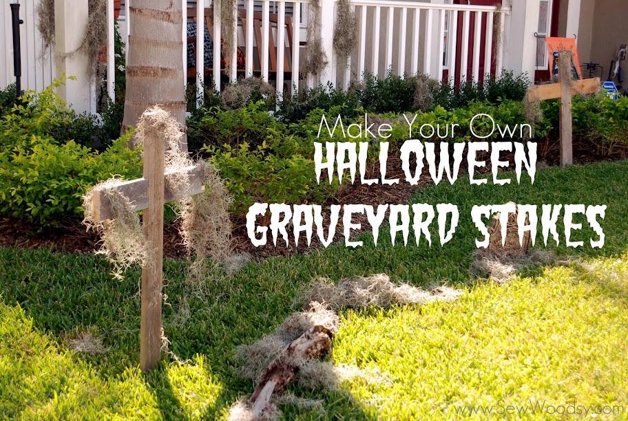 halloween graveyard stakes