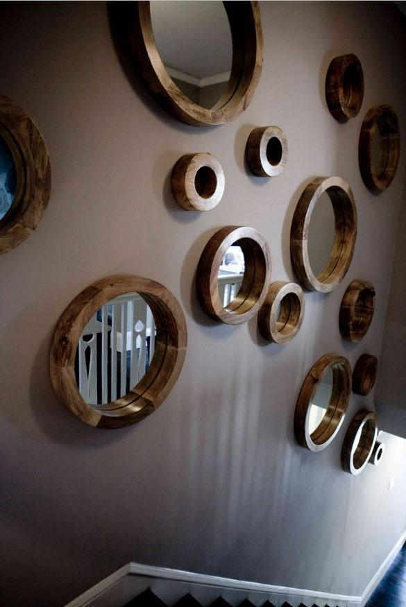 Hallway Wall With Circles and Holes