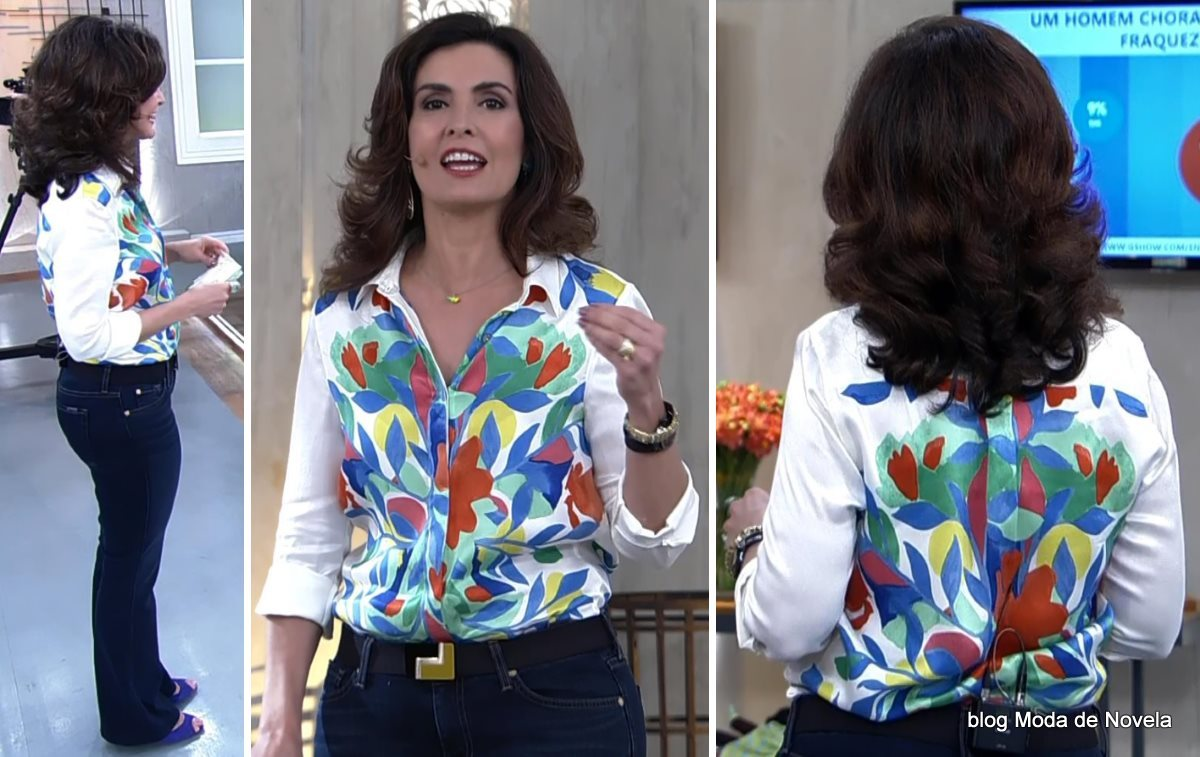 moda do programa Encontro - look da Fátima Bernardes dia 30 de junho