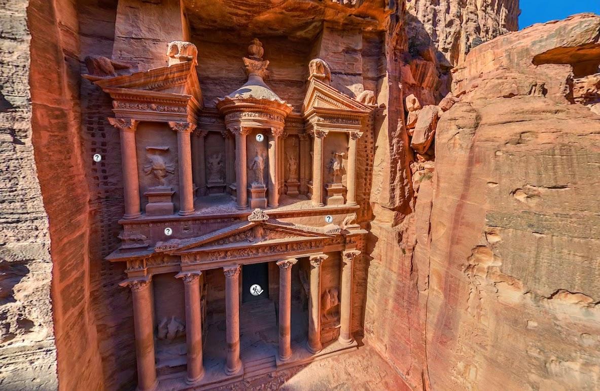 Город в камне - Петра, Иордания • 360° Аэрофотопанорама