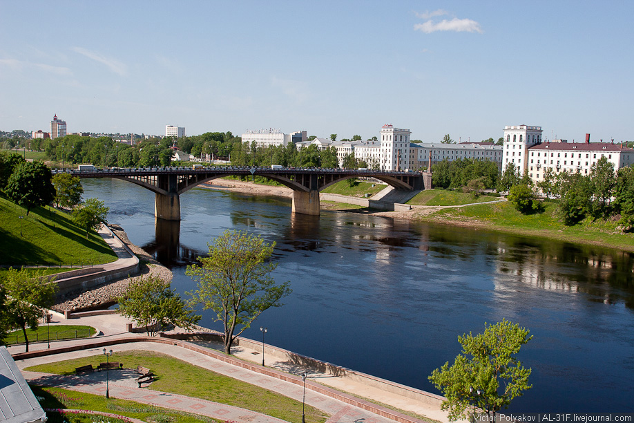 Витебск. Двина и Кировский мост