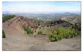 Ausblick auf einen erloschenen Vulkan