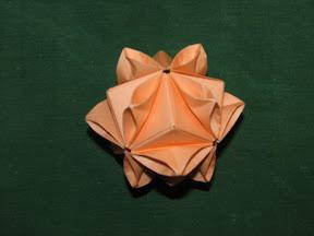 "Zinnia from ""Ornamental Origami"" by Meenakshi Mukerji"