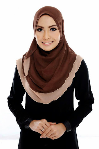 ADC III 007%2520Dark%2520Choc%2520%252B%2520Light%2520Brown SHAWL ADREENA TUDUNG SHAWL HALFMOON DOUBLE LAYER YANG LABUH