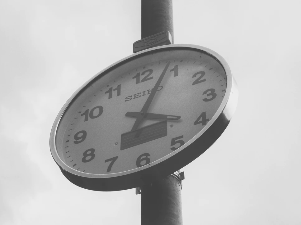 clock represents time