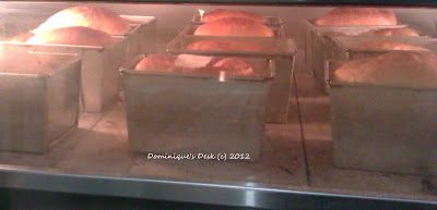 bread baking in the oven