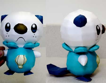 Pokemon Oshawott Papercraft