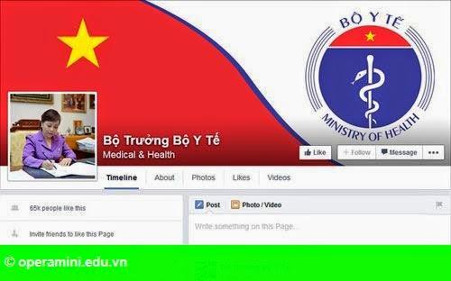 Hình 1: Bộ trưởng đầu tiên công bố trang Facebook cá nhân