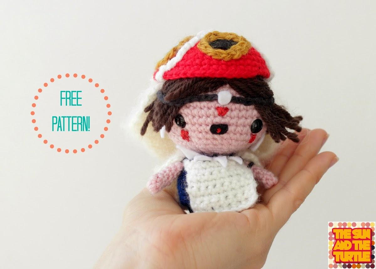Free Amigurumi Princess Pattern : Princess Mononoke free Amigurumi pattern The Sun and the ...