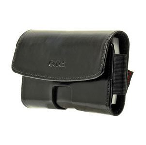 Cellet Omega Leather Case Clip Black For Blackberry Torch 9800