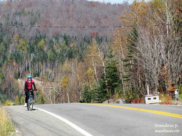 pe drumuri canadiene cu bicicleta