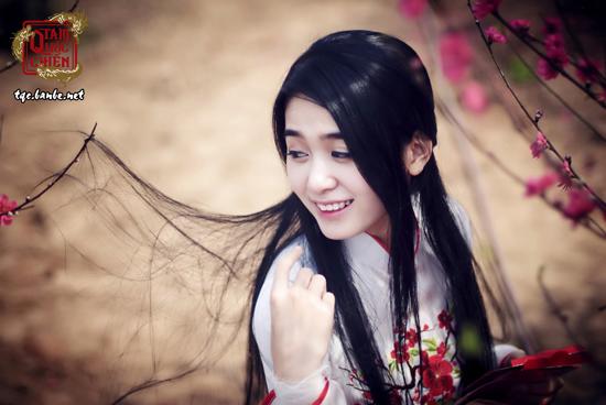 Ngọc Hiền khoe sắc duyên dáng cùng hoa đào - Ảnh 3