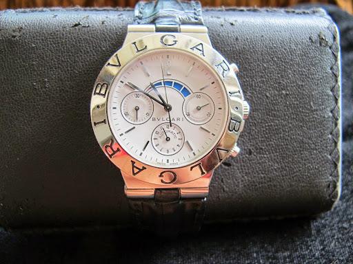 Bán đồng hồ Bulgari Diagono Regatta Chronograph 18k White – 6 kim – vàng trắng – dây da – size 40mm