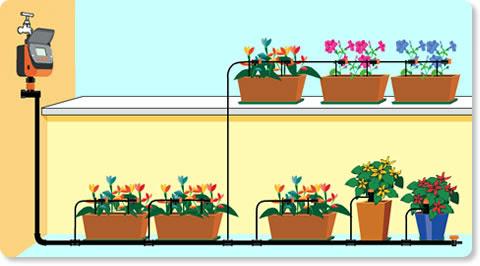 impianto - sistema di irrigazione balcone-terrazzo fai da te ...