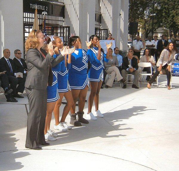 Language In 45 And 47 Stella Street: Newark USA: Ribbon-Cutting, Schools Stadium