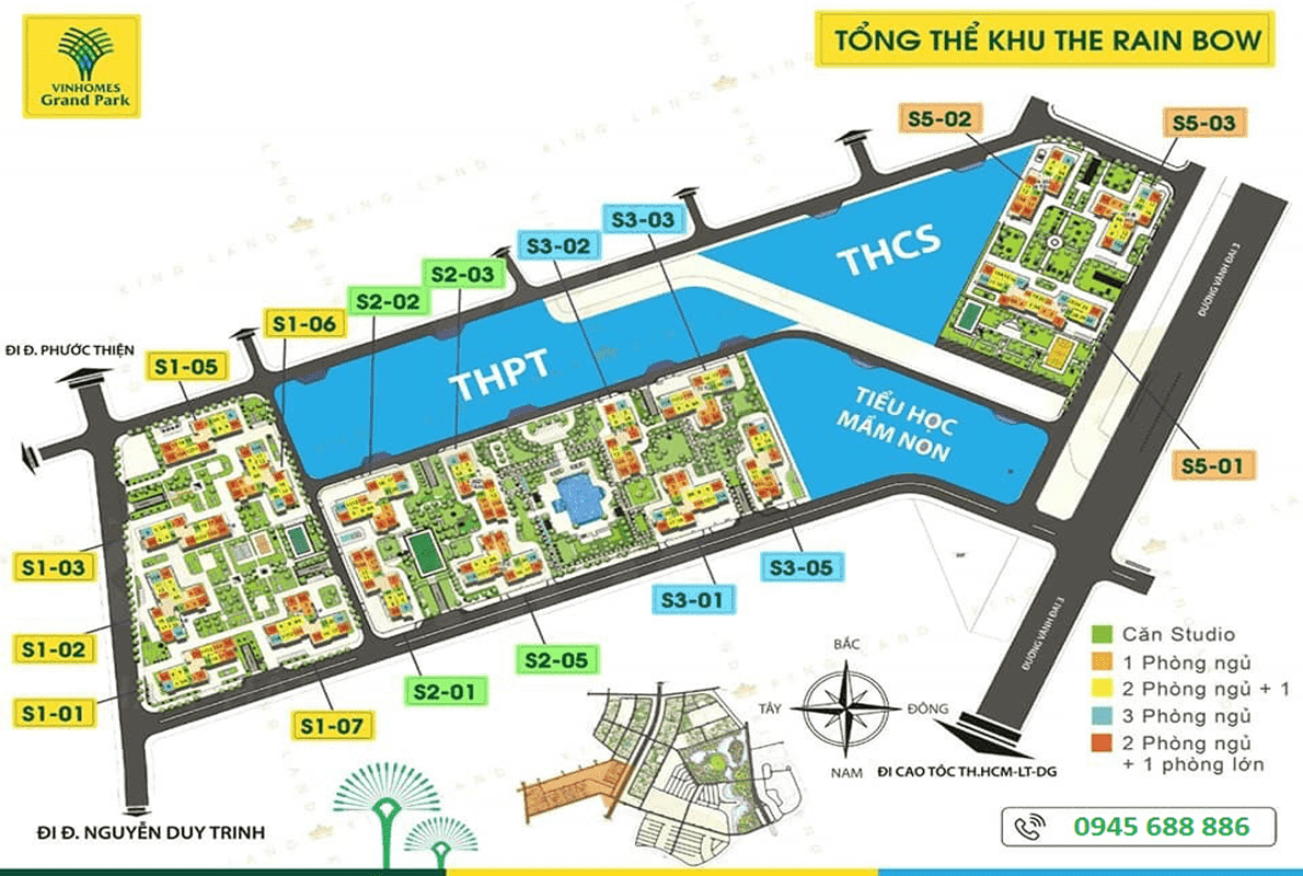 phan khu the rainbow vinhomes grand park