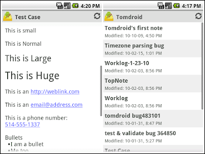 Tomdroid 0.7 su Android
