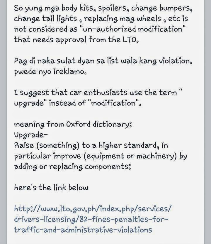 LTO (insider) clarifies Permit Needed for Modified Vehicles Custom Pinoy Rides Manila Philippines pic7