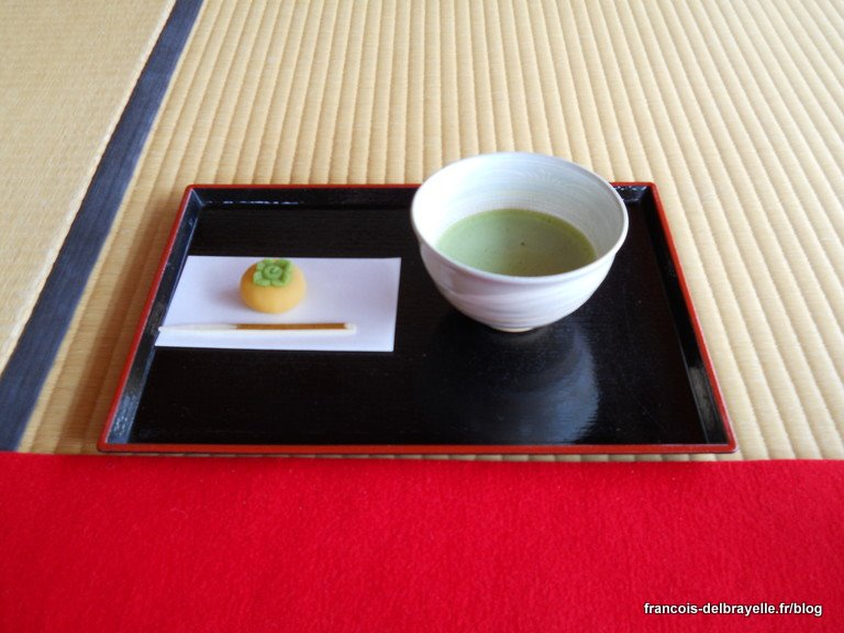 Cérémonie du thé aux jardins du Hamarikyû à Tokyo
