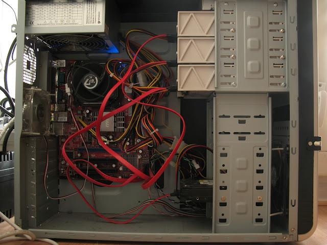 Домашний файловый сервер - вид изнутри