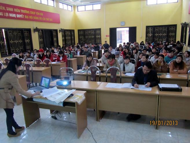 Hội giảng sinh viên năm học 2012-2013 tại Trường Cao đẳng Sư phạm Yên Bái