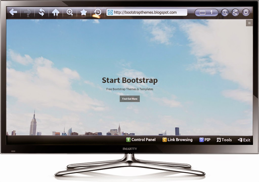 Free Bootstrap Themes SmartTV Preview