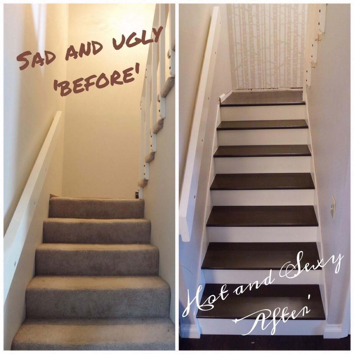 The Ambitious Procrastinator: Stair Update: Bottom Half Is