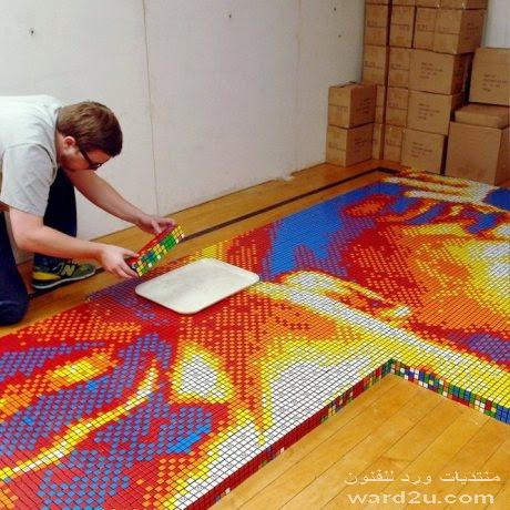 لوحات فنيه من مكعبات روبيك