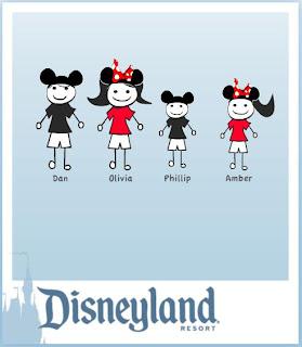 Olivia S Disney Adventures Disneyland Stick Figure Family