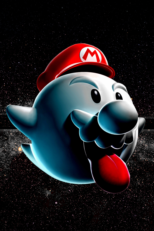 Super Mario Cute Game Wallpapers Space For iPhone4