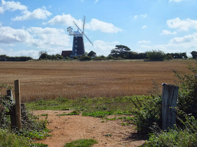 Burnham Overy Staithe windmill from the Burnham Norton side