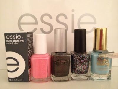 bottles of nail polish