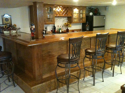 High quality bar and cabinets built by me.  The doors were built by Millwork Company.