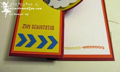 stampin up, eins für alles, fire brigade, feuerwehr, boy's birthday, flip card, geburtstag jungs