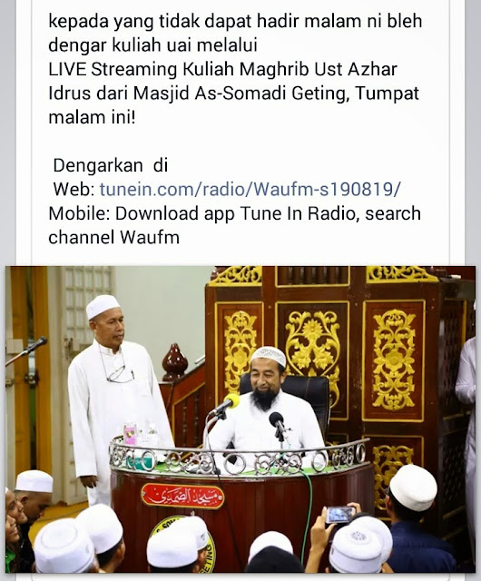 Live! Kuliah Agama Ustaz Azhar Di Geting