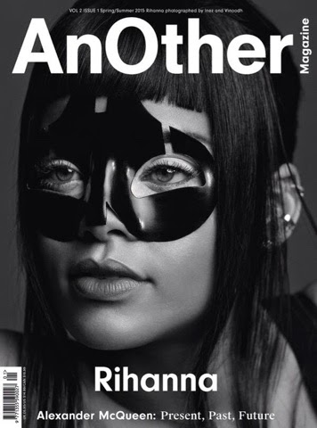 Rihanna covers AnOther Magazine's Volume II Issue I in Alexander McQueen