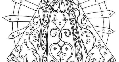 Dibujos Católicos Virgen De Lujan Para Colorear