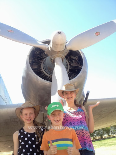 TeamBray at the QANTAS museum