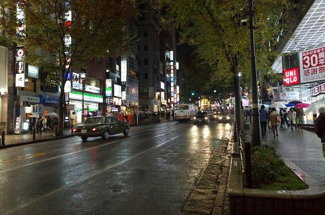 夜の道玄坂