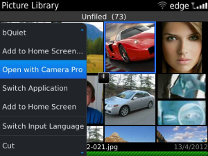 Camera Pro v1.0.3 BlackBerry